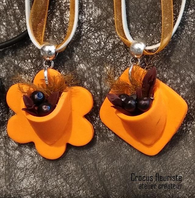 Bijoux végétal orange