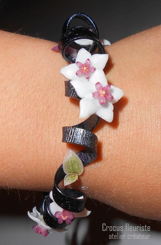 Bracelet de fleurs d'hoya